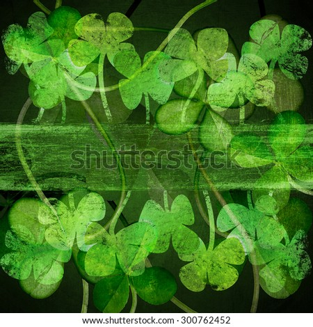 Four Leaf Clover.green clover background