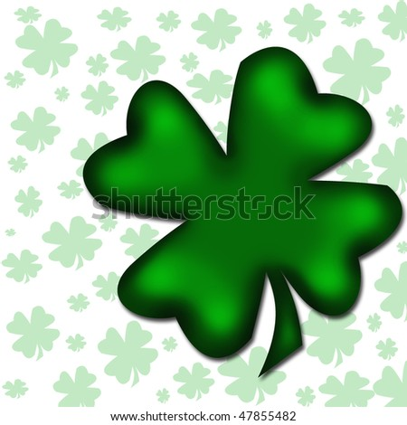 four-leaved clover isolated - stock photo
