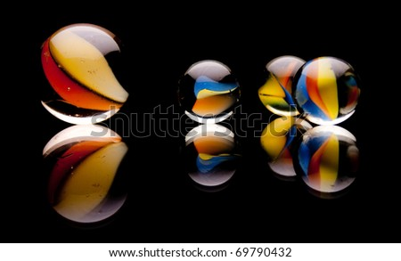 Four Marbles - stock photo