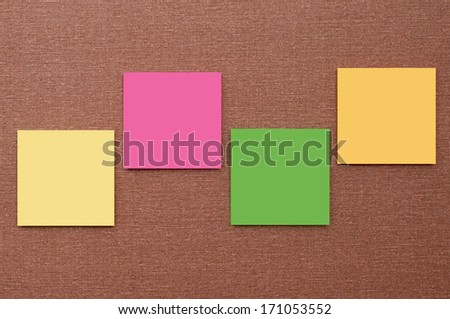 four notice papers on canvas