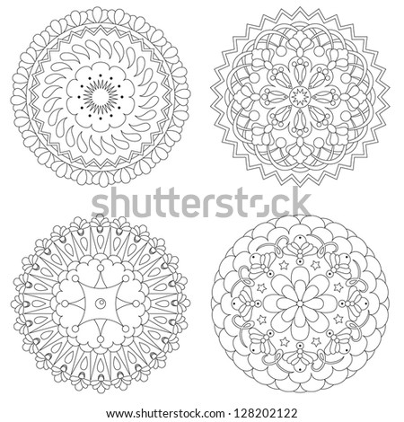 Four rosette design patterns
