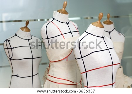 Four Taylor mannequins - stock photo