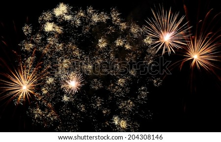 Fourth Of July Fireworks Display - stock photo