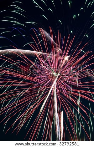 Fourth Of July Holiday Fireworks Celebration Display