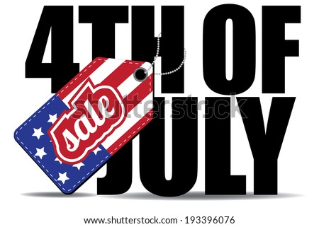 Fourth of July sale icon  - stock photo