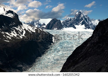 Fox Glacier,  New Zealand - stock photo