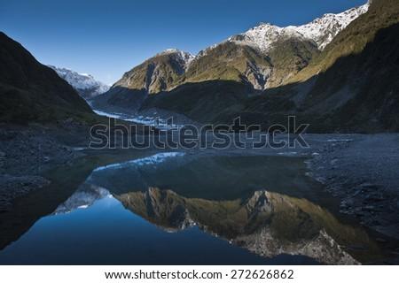 Fox Glacier, Newzealand. - stock photo