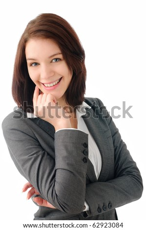 Foxy young business woman - stock photo