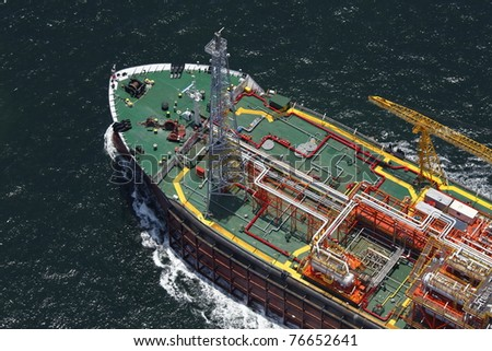 FPSO - Floating, Production, Storage and Offloading Vessels. - stock photo
