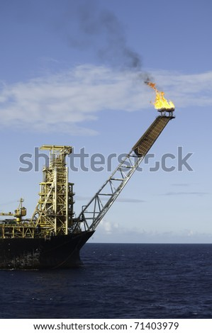 FPSO oil rig flare