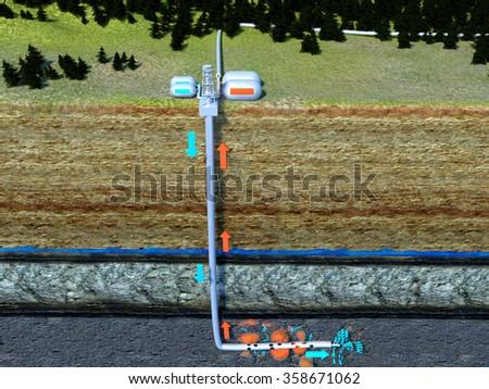 Fracking - stock photo