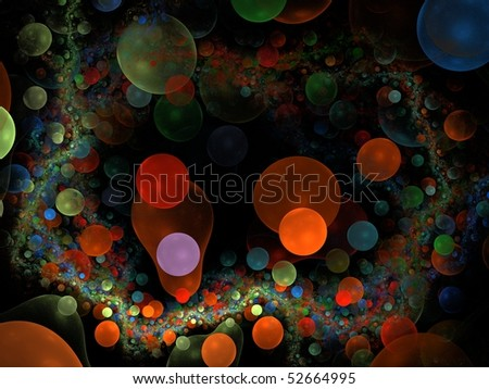 fractal abstract bubbles
