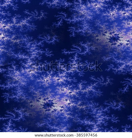 Fractal background in the different shades of dark blue.