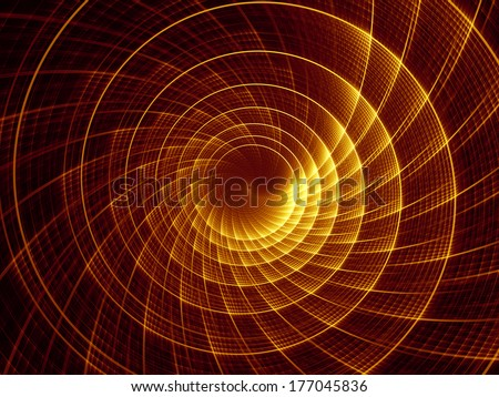 Fractal Burst series. Backdrop of fractal radial burst pattern on the subject of science, technology and design - stock photo