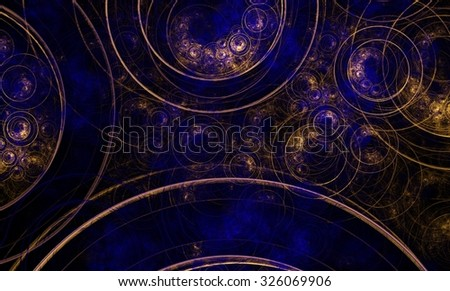 Fractal color bubbles background effect wallpaper
