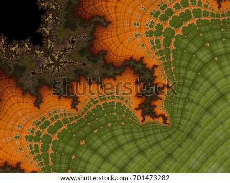 Fractal created based on the data. It is a mix of tundra, tropics, pine forests and many other plants. Organic structure of the ornament resembles the natural conditions of the world