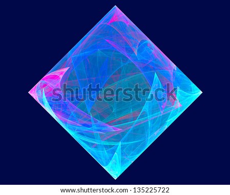 fractal drawing - stock photo