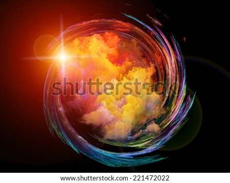 Fractal Elements series. Composition of fractal shapes and colors with metaphorical relationship to art, creativity, imagination, science and design - stock photo
