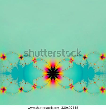 fractal, fantasy flower - stock photo
