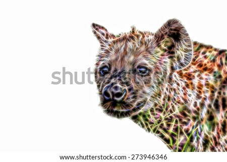 Fractal illustration of a Spotted Hyena