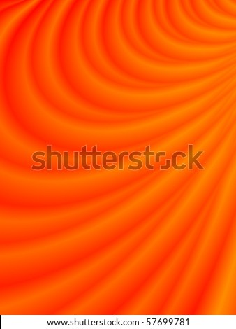 Fractal image depicting an abstract lava flow. - stock photo