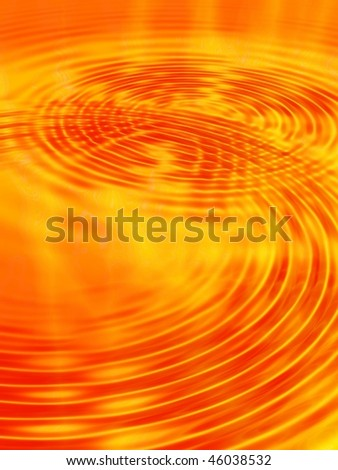 Fractal image depicting an abstract lava flow ripples. - stock photo
