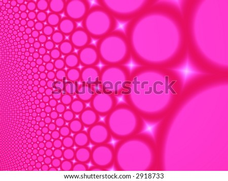 Fractal image depicting many abstract champagne bubbles. - stock photo