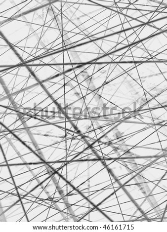Fractal image depicting the complex communication structures in present society. - stock photo