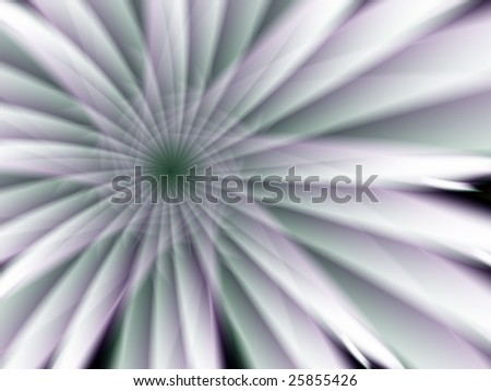 Fractal image of a beautiful delicate spring flower.