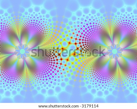 Fractal image of an abstract pastel spring background.