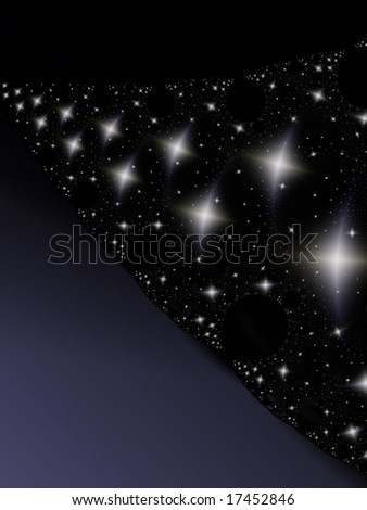 Fractal image of an abstract star galaxy or constellation vortex.