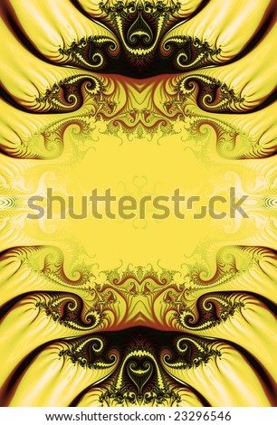 Fractal in shades of yellow & brown. - stock photo