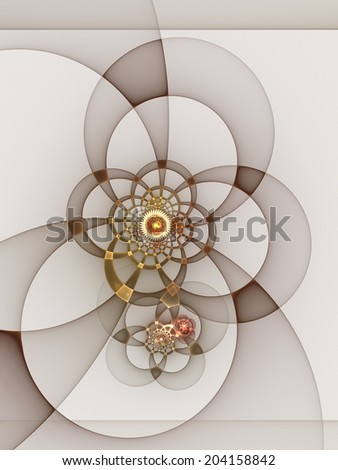 Fractal mechanics: abstract geometric design - stock photo