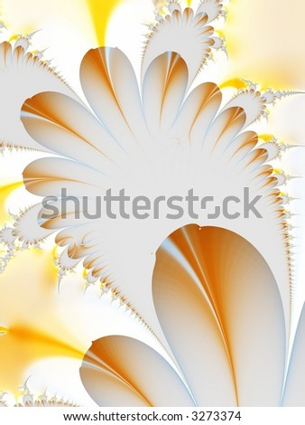 fractal of feathers or flower petals - stock photo