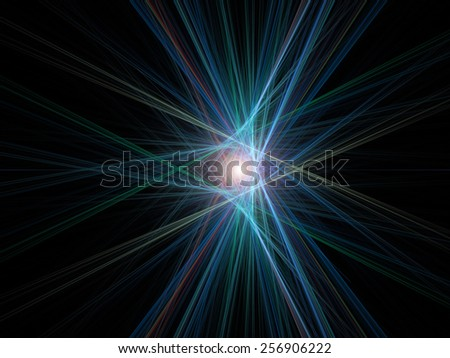 fractal with abstract background - stock photo