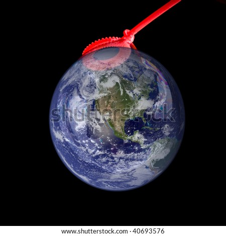 Fragile Earth - stock photo