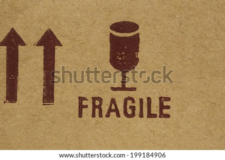 Fragile Rubber Stamp - stock photo