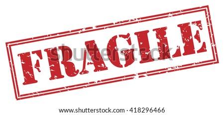 Fragile stamp - stock photo