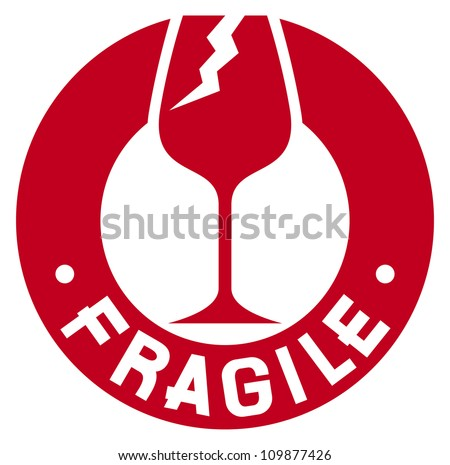 fragile stamp (fragile symbol) - stock photo