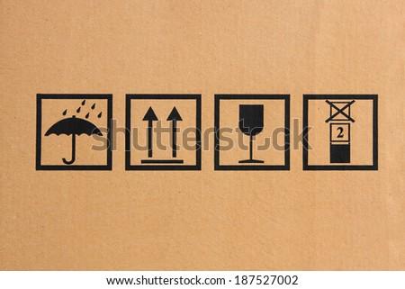 fragile symbol - stock photo