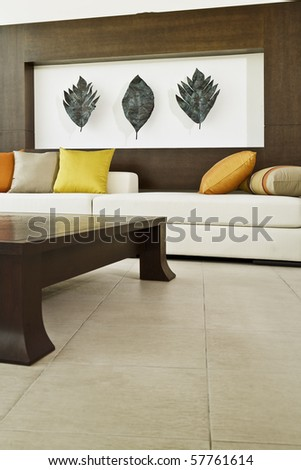Fragment like view of modern style interior - stock photo