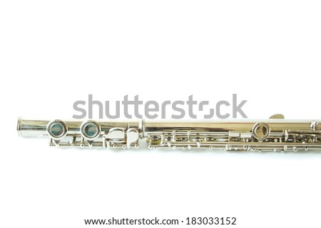 fragment of a flute - stock photo