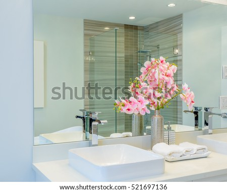 Fragment of a luxury bathroom