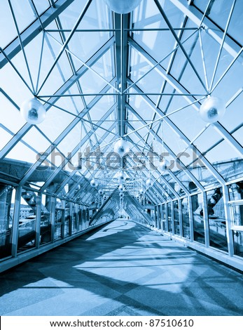 Fragment of a modern business futuristic interior - stock photo