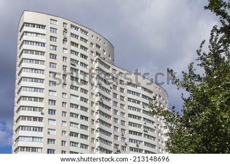 Fragment of a modern house - stock photo