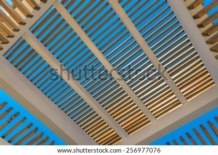 Fragment of abstract architecture building construction  interior, exterior design. - stock photo
