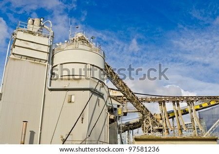Fragment of an industrial building in Vancouver, Canada. - stock photo