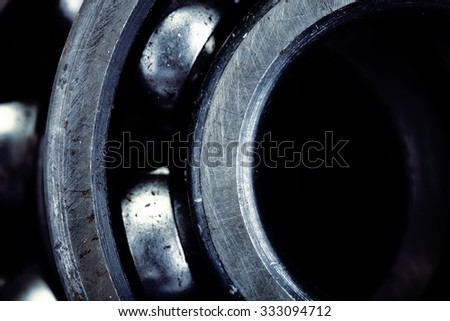 Fragment of bearing for industrial background - stock photo