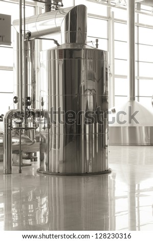 Fragment of brewery - stock photo