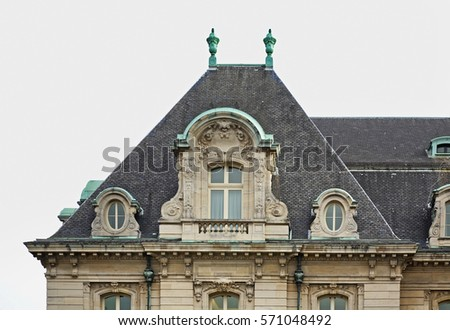 Fragment of building Luxembourg city